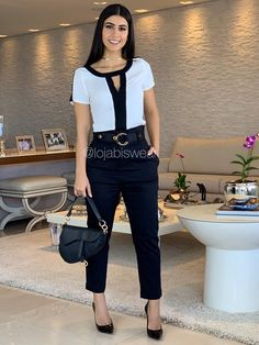 Business Casual Outfits For Women, Stylish Outfits, Fashion Outfits, Look Office, Office Looks, Urban Fashion Women, Trendy Fashion, Trouser Outfits, Korean Street Fashion