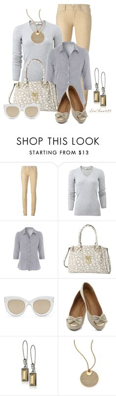 """""""vneck sweater and collard blouse"""" by leeann829 ❤ liked on Polyvore featuring Étoile Isabel Marant, Vince, Calvin Klein, Quay, Kenneth Cole and Michael Kors"""