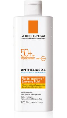 Anthelios XL Fluide Extreme SPF 50+ Corps contains Mexoryl SX, Mexoryl XL to deliver the ultimate in UVA and UVB protection.    Anthelios Fluide Extreme SPF 50+ Corps is a  unique, lightweight fluid, great for oil-prone skin, formulated with Mexoryl XL and Mexoryl SX, offering broad spectrum UVA/UVB protection with ultra UVA protection for the body (PPD 32).    Formerly called Fluide Extreme SPF 60, this product is now formulated with Tinosorb S in addition to Mexoryl SX and XL.