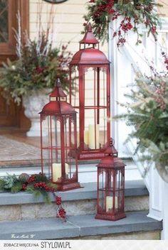 czerwone lampiony