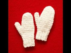 In this step by step follow along video you will learn how to crochet a basic mitten.  You choose your colors.  Download free pattern from Lion ... .   Sizes from  Child 2, 3-7 and adult medium and large.  This works up quickly and is fun.  In no ti. Crochet, Pattern, Crochê, Easy,