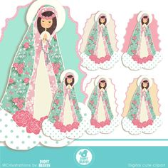 Virgen Maria Cliparts comerciales USE OK por MCIllustrations