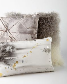 Shop luxury pillows and throw pillows at Horchow. Browse our luxurious selection of decorative and throw pillows in a variety of sizes and styles. Cowhide Pillows, Grey Pillows, Accent Pillows, Mongolian Fur Pillow, Contemporary Home Decor, Pillow Sale, Decorative Throw Pillows, Pillow Covers, Things To Sell