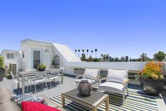 This rooftop deck offers stunning views of the iconic Hollywood sign. Contemporary new homes in the Panorama community built by WCH Communities. Los Angeles, CA.