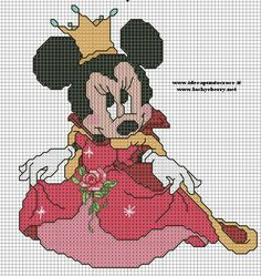 MINNIE DISNEY CROSS STITCH-PUNTO CROCE by syra1974 on deviantART dla malutkich wielbicielek mini
