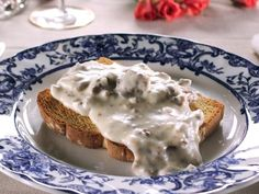 Creamed Beef on Toast recipe from Trisha Yearwood. My Grandma used to make this for us and we all loved it!