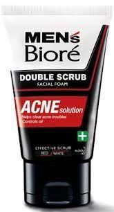 Mens Biore Double Scrub Acne Solution Facial Foam 100g *** Click for Special Deals #FacialScrubs Acne Solutions, Facial Scrubs, Special Deals, Face Scrubs, Facial Cleanser