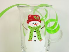 Irish Coffee Cup Snowman Hand Painted. $12.00, via Etsy.
