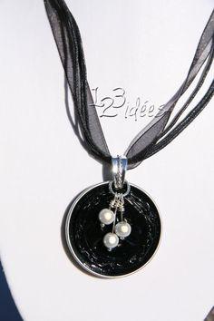 make it by yourself - nespresso capsule necklace idea Wire Jewelry, Jewelry Crafts, Jewelery, Bijoux Fil Aluminium, Do It Yourself Jewelry, Homemade Jewelry, Diy Schmuck, Bijoux Diy, Washer Necklace