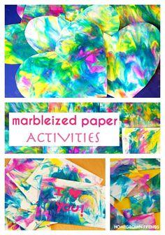 Marbleized Shaving Cream Paper Activities