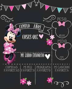 Minie Mouse Party, Fiesta Mickey Mouse, Minnie Mouse Pink, Minnie Birthday, Girl Birthday, Diy Bebe, First Birthdays, Invitations, Invite