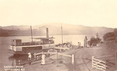 Sackville Wharf Hawkesbury River, NSW (Photo undated) possibly c.1900. v@e.