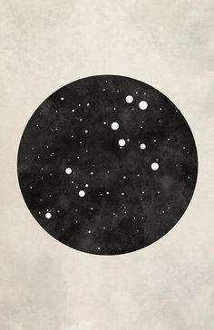 Leo Art Leo Constellation by blackandthemoon on Etsy