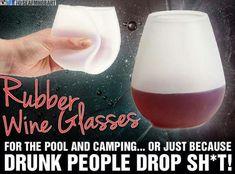 Rubber wine glasses !!!