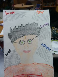 Character Trait Poster Project: We used this project to encourage students to find specific evidence from the text using the main character in their reading group books. After naming five character traits, students were asked to identify corresponding passages/quotes that demonstrate the trait. Here's the teacher example! I used Harry Potter because it's so familiar among students.