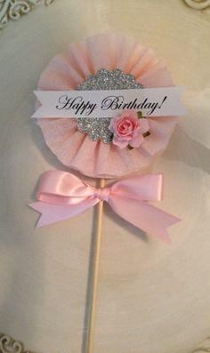 Beautiful Shabby Chic Happy Birthday Wand for Birthday by JeanKnee, $6.00