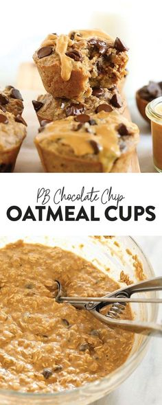 The oatmeal cup of all oatmeal cups is here! You must make these peanut butter chocolate chip oatmeal cups for a healthy breakfast all year long. Peanut Butter Breakfast, Peanut Butter Muffins, Peanut Butter Oatmeal, Healthy Peanut Butter, Chocolate Chip Muffins, Chocolate Chip Oatmeal, Chocolate Peanut Butter, Healthy Food, Chocolate Cups