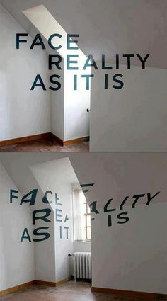 face reality as it is / anamorphose