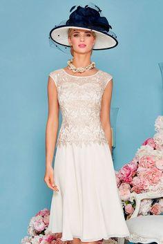 Princess Jewel Tea-length Chiffon Mother of the Bride Dress 1