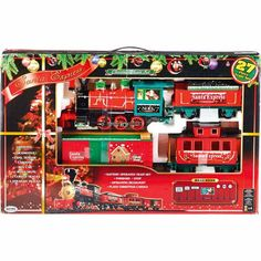 I have always, always wanted a train set to go around the tree at Christmas.  Hubs says no.  We shall see.