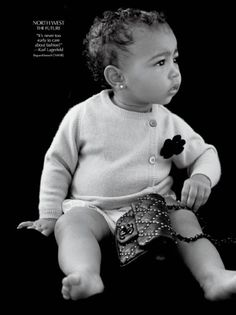 7295b8f388 Baby North West Makes Debut in Carine Roitfeld s Magazine CR Fashion Book  http