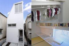 建築 デザイン | 傑作の狭小住宅20 | 隠す、見せる、透けるの3つの収納 | For M