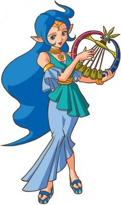 Nayru, the goddess of wisdom (and oracle of ages) from the Legend of Zelda.