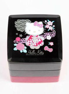 New Sanrio Hello Kitty 2tier Lunch Box Case Container Bpa Free Sakura