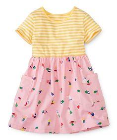 Hanna Andersson Sunshine Stripe & Bird Mixie Playdress | zulily