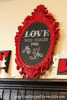 DIY Framed Chalkboard...for themed entryway?