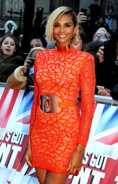Pin for Later: Let These Ladies in Red Inspire Your Valentine's Day Look Alesha Dixon