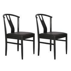 Set 2 scaune  RGE  Hugo, negru