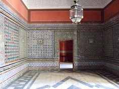 """""""Casa de Pilatos"""", a 16th-century Andalucia palace and considered one of the finest examples of Andalusian architecture of sixteenth century Sevilla: Courtyards, paintings, frescos, statues of emperors from nearby Italica and azulejos (tiles) wherever your eyes can see"""