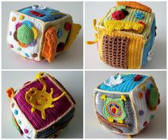 Free Crochet Pattern for Beginners Baby Dice - Deutschland Ideen Crochet Baby Toys, Crochet Bear, Crochet For Kids, Free Crochet, Crochet Patterns For Beginners, Free Baby Stuff, Baby Crafts, Baby Patterns, Cubes