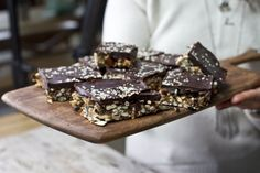 Crunchy and Nutty Chocolate Almond Butter Bars | Recipe
