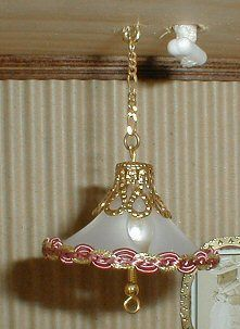 Miniature Dollhouse Brass Colonial Lamp non-working