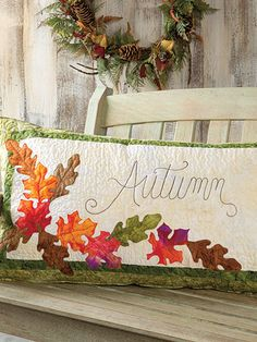 Simply Autumn quilting pattern from the Quilter's World team at Annie's Craft Store. Order here: https://www.anniescatalog.com/detail.html?prod_id=132146&cat_id=1644