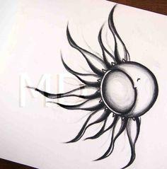 Sun/ moon flowery design