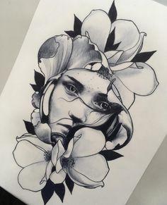 Sketch Tattoo Design, Tattoo Sketches, Tattoo Drawings, Art Sketches, Art Drawings, Tattoo Designs, Tattoo Studio, Tattoo L, Pot A Crayon