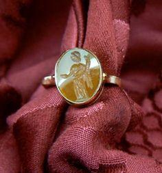 """Cornucopia"" Intaglio ring carnelian - Dogale Jewellery Venice Italia"