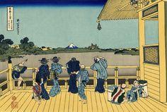 Hokusai 36 views of mount Fuji #13 Sazai hall - Temple of Five Hundred Rakan 五百らかん寺さざゐどう Gohyaku-rakanji Sazaidō
