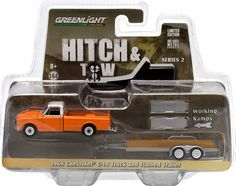 Greenlight 32020 1:64 Scale Hitch & Tow Series 2 complete set of 4 Dodge Monaco With Airstream,Ford bronco, Chevy truck , and dodge Ram all...