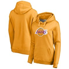 Los Angeles Lakers Fanatics Branded Women s Primary Logo Pullover Hoodie -  Gold 7da05bf20