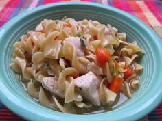 Chicken Noodle Soup...tried this on our first cool night this fall and it was excellent.  Needs more liquid though!
