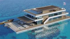 Yacht Design, Boat Design, Boat Building, Building Design, Building A House, Luxury Houseboats, Floating Architecture, Houseboat Living, Luxury Homes Dream Houses