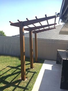 The pergola you choose will probably set the tone for your outdoor living space, so you will want to choose a pergola that matches your personal style as closely as possible. The style and design of your PerGola are based on personal Timber Pergola, Backyard Pergola, Pergola With Roof, Pergola Kits, Backyard Landscaping, Gazebo, Steel Pergola, Modern Pergola, Covered Pergola