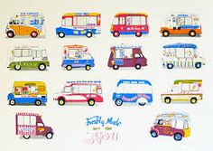 Image result for ice cream van illustration