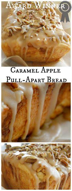 Blue Ribbon Kitchen: Prize-winning Caramel Apple Pull-Apart Bread.  Apple bread recipe.