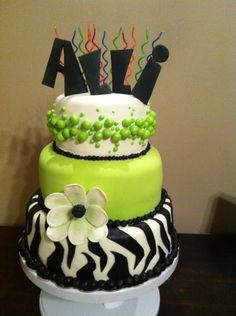 "Birthday cake.  Btw i wouldn't put ""Alli"" on the cake, I would put Kayla lol"