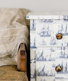 Decoupage project from Furniture Makeovers   Poppytalk